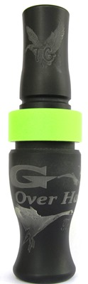 """G OVERHAULER""™  Flat Black with lime band"