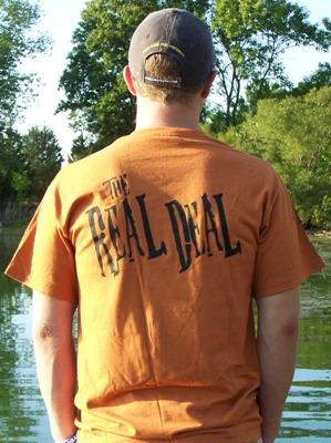 Half Breed D™ short sleeve tee, (back side) orange