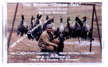 """Goose Talk""™  cassette, instruction on flute calls"