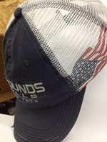 CAP Navy cloth, white mesh, flag