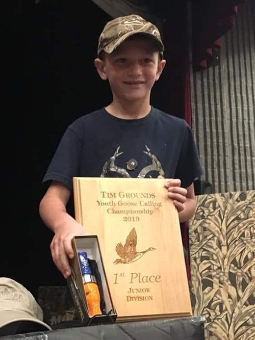 Drake Haub 2019 Tim Grounds Memorial Junior Goose Calling Champion