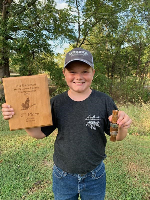 Logan Heibner 2019 Tim Grounds Memorial Junior Duck Calling Champion